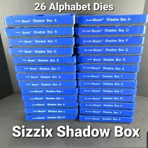 Sizzix 26 Alphabet Dies *Shadow Box* Font